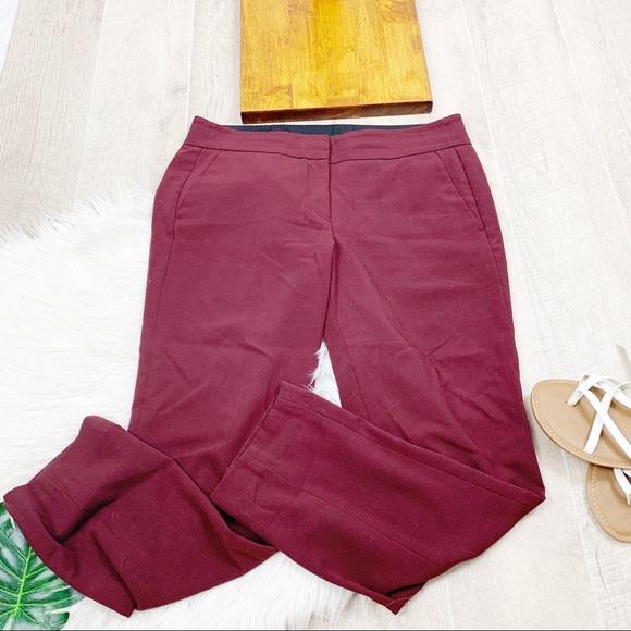 LOFT Pants - LOFT Marisa Cropped Chino Flat Front Pant D1370